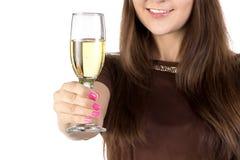 Foto do champanhe de vidro fotografia de stock