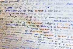 Foto do close up do caderno O negócio e a tecnologia do AI representam a aprendizagem Estrutura do Web site do HTML CSS, Javascri imagem de stock