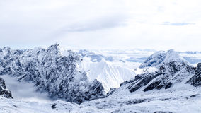 Foto do curso de Zugspitze - o pico o mais alto de Germany's Imagem de Stock