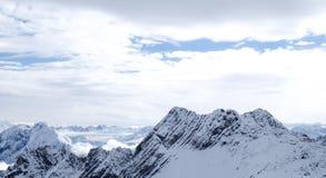 Foto do curso de Zugspitze - o pico o mais alto de Germany's Fotografia de Stock Royalty Free