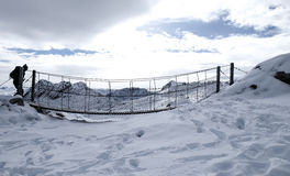 Foto do curso de Zugspitze - o pico o mais alto de Germany's Foto de Stock