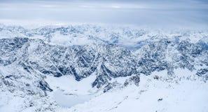 Foto do curso de Zugspitze - o pico o mais alto de Germany's Fotografia de Stock
