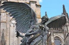 A foto do detalhe da fonte da paz é ficada situada ao lado da catedral de St John o divino em Morningside Heights em New York Imagem de Stock Royalty Free