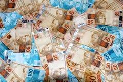 Foto do dinheiro de Brasil Fotografia de Stock Royalty Free