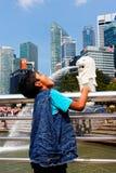 Foto do divertimento do turista fotos de stock