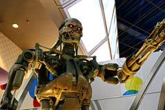 Foto do esqueleto da extremidade T-800 foto de stock
