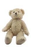 Foto do estúdio do brinquedo leve marrom do urso Fotografia de Stock Royalty Free