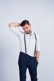 Foto do estúdio do homem à moda novo Fotografia de Stock Royalty Free