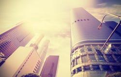 Foto do estilo do instagram do vintage dos arranha-céus em Los Angeles Foto de Stock Royalty Free