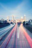 Foto do estilo do vintage da skyline de Atlanta imagens de stock