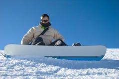 Foto do estoque do retrato do Snowboarder Imagens de Stock