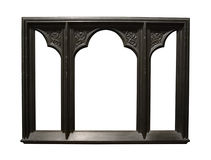 Foto do frame de retrato de madeira escuro envelhecido Imagens de Stock Royalty Free