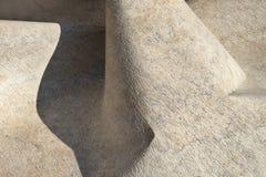 Foto do fundo do detalhe da escultura abstrata Imagens de Stock