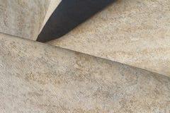 Foto do fundo do detalhe da escultura abstrata Imagens de Stock Royalty Free