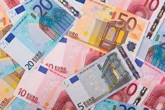 Foto do fundo dos euro Imagem de Stock Royalty Free