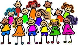 Foto do grupo ilustração royalty free
