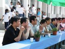 Foto do grupo da equipe dos comerciantes conservados em estoque Fotos de Stock