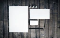 Foto do grupo vazio dos artigos de papelaria Imagem de Stock