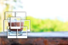 Foto do instante do leite de chocolate Fotos de Stock Royalty Free