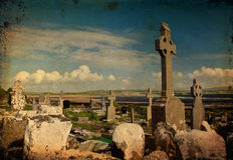 Foto do local velho do garve do enterro ao oeste de ireland fotos de stock royalty free