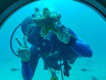 Foto do memorial do mergulhador imagem de stock