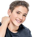 Foto do menino feliz novo adolescente adorável imagem de stock
