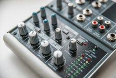 Foto do misturador audio análogo foto de stock