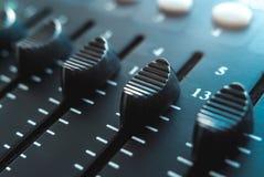 Foto do misturador audio análogo imagem de stock