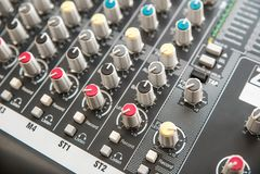 Foto do misturador audio análogo fotografia de stock
