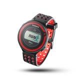 Foto do monitor vermelho da frequência cardíaca Foto de Stock
