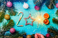 Foto do Natal dos números 2018 Foto de Stock