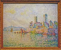 Foto do ` original Antibes da pintura, o ` das torres por Paul Signac Fotos de Stock