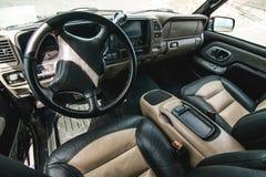 Foto do painel no carro fotografia de stock