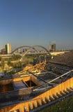 Foto do panorama de HDR da vista da parte superior do grande pavilhão do russo na EXPO 2015 de Milão Imagem de Stock Royalty Free