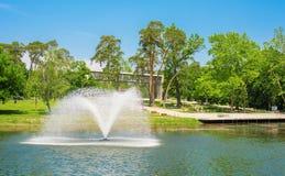 Foto do parque em Debrecen, Hungria fotos de stock royalty free