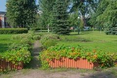 Foto do parque no composto Templo-patriarcal Ho Imagem de Stock Royalty Free