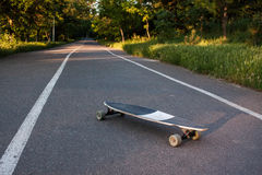 foto do patim do longboard Imagem de Stock