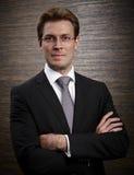 Foto do perfil incorporado de um homem de negócios profissional Foto de Stock