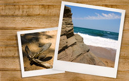 Foto do Polaroid do mar e da âncora Foto de Stock Royalty Free