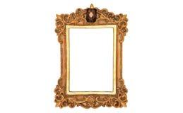 Foto do quadro dourado antigo Fotos de Stock Royalty Free