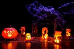 Foto do tema de Halloween - paisagem Foto de Stock