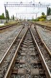 Foto do vertical da estrada de ferro imagem de stock