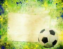 Foto do vintage da bola de futebol Brasil 2014 Fotos de Stock Royalty Free