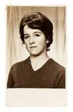 Foto do vintage da jovem mulher bonita Fotografia de Stock