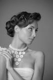 Foto do vintage da menina foto de stock royalty free