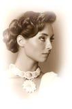 Foto do vintage da menina mim imagem de stock royalty free