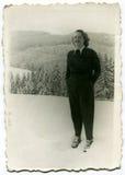 Foto do vintage da mulher imagem de stock royalty free