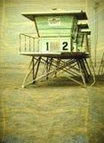 Foto do vintage da torre do lifeguard Fotos de Stock Royalty Free
