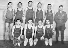 Foto do vintage de uma equipa de basquetebol Imagens de Stock Royalty Free