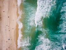 Foto do zangão da praia de Barra da Tijuca, Rio de janeiro, Brasil imagens de stock